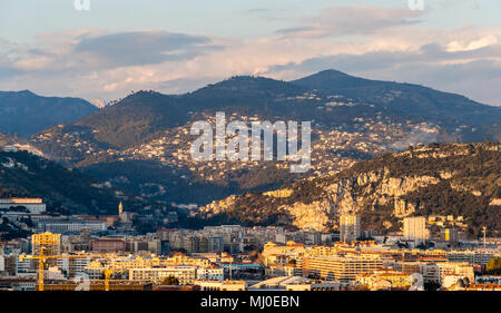 Ligurian Alps in Nice, Côte d'Azur -  France - Stock Photo
