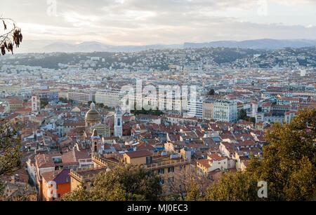 View of Nice city - Côte d'Azur -  France - Stock Photo