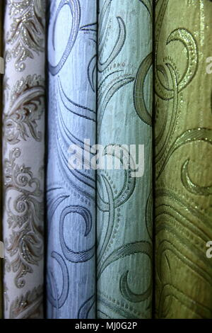 Colorful fabric is used to design out all kinds of clothes for women and men, it can be canvas or cotton, and even silk all suitable for clothes. - Stock Photo