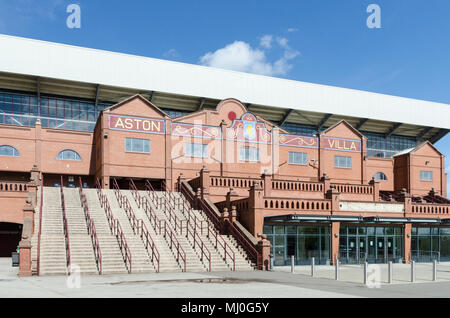 The famous Holte End stand at Vllla Park, home of Aston Villa Football Club in Birmingham - Stock Photo