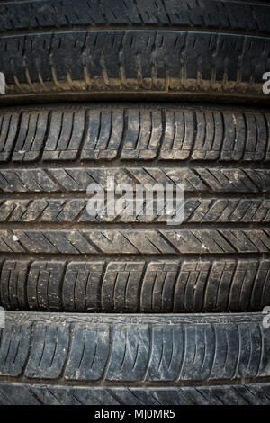 Tyre lines are clearly visible - Stock Photo