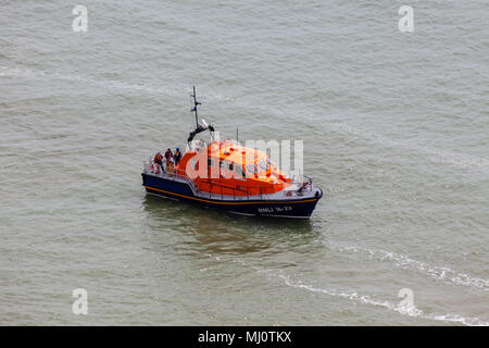 Eastbourne East Sussex UK - May 3rd 2018: Car reported to of been driven off the cliffs at Beachy Head. Search & Rescue - Stock Photo