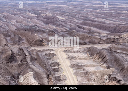 soft coal opencast mining in Lusatia, Germany - Stock Photo