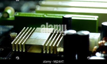 Mainboard Close Up - Stock Photo