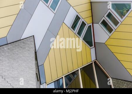 Cubic Houses or Kubuswoningen, designed by the architect Piet Blom. Architecture. Kijk Kubus. Blaak district, Rotterdam, Netherlands, Holland, Europe - Stock Photo