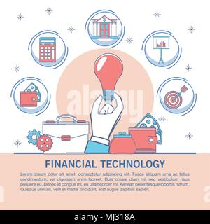 Financial technology infographic - Stock Photo