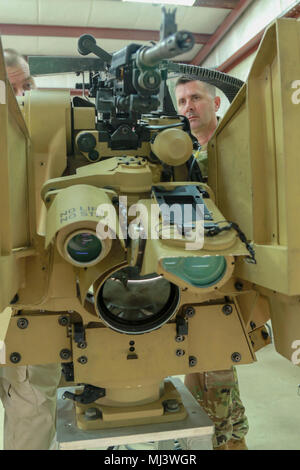 Fort Stewart, Ga., March 20, 2018 - The Common Remotely Operated Weapon Station is an externally mounted weapons control system that allows the gunner to remain inside the vehicle while firing various crew served Weapons.  Georgia National Guardsman from across the state attended the CROWS Operator Instructor course at the Georgia Garrison Training Center this week.(Georgia Army National Guard Image collection celebrating the bravery dedication commitment and sacrifice of U.S. Armed Forces and civilian personnel.