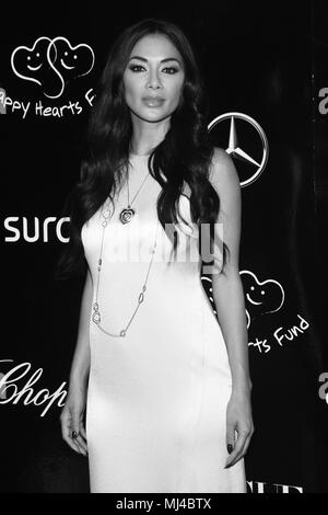 CIDADE DO MÉXICO, DF - 03.05.2018: HAPPY HEARTS FUND RED CARPET - Actress Nicole Scherzinger is coming to Charity Gala of Happy Hearts Fund to support children who do not have schools with the program Back to School at Four Season Hotel on May 03, 2018 in Mexico City, Mexico (Photo: Carlos Tischler/Fotoarena) - Stock Photo
