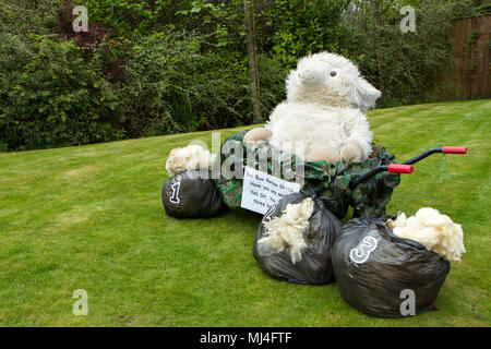 Scorton, UK. Scorton Barrow & Bikes May Bank Holiday, 4th May 2018.  Scorton Bikes & Barrows Festival is on May Day bank holiday weekend - look out for the decorated bicycles and wheelbarrows all around the village.   Credit: Cernan Elias/Alamy Live News - Stock Photo