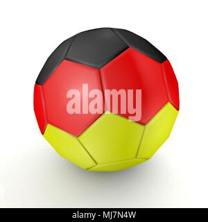 Football - flag of Germany - 3D - Stock Photo