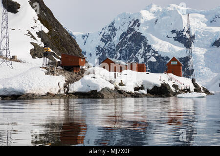 Brown Station is an Argentine Antarctic base and scientific research station named after Admiral William Brown, the father of the Argentine Navy locat - Stock Photo
