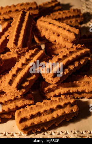 Italy Tuscany ' Biscotti con ricci ' -Biscuits with curly - Stock Photo