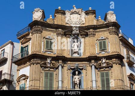 Quattro Canti, Palermo, Italy - Stock Photo
