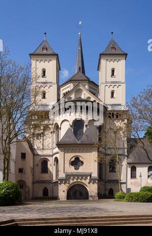 Brauweiler bei Pulheim, Abteikirche St. Nikolaus, Blick von Osten - Stock Photo