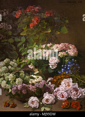 Spring Flowers, Claude Monet, 1864, Cleveland Museum of Art, Ohio, USA, North America - Stock Photo