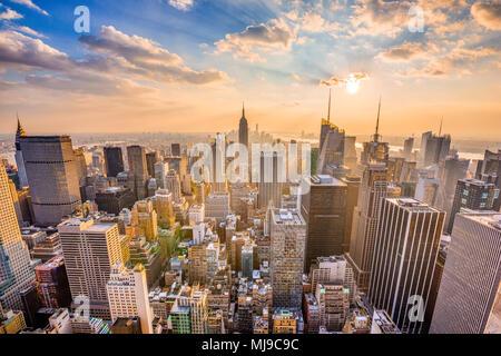 New York, New York, USA midtown Manhattan skyline. - Stock Photo