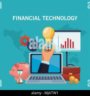 Financial technology concept - Stock Photo