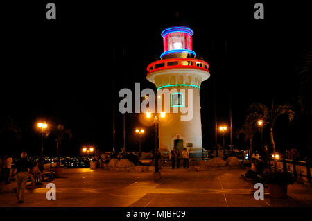 Lighthouse on the hill top of Las Peñas, Guayaquil, Ecuador, South America - Stock Photo