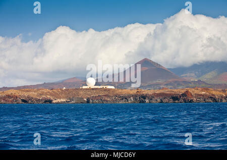 ascencion, a remote little Island in the middle of the atlantic ocean - Stock Photo