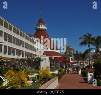 SAN DIEGO/CALIFORNIA - AUGUST 18, 2017: View on the Hotel Del Coronado. - Stock Photo