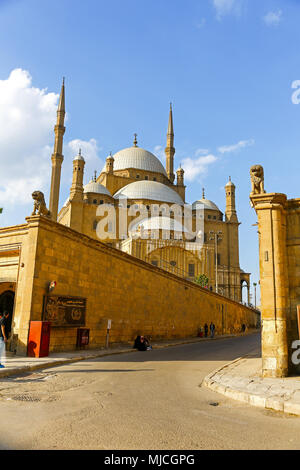 The Great Mosque of Muhammad Ali Pasha, or Alabaster Mosque, or Muhammad Ali Mosque, is situated in the Citadel of Cairo in Egypt, North Africa - Stock Photo