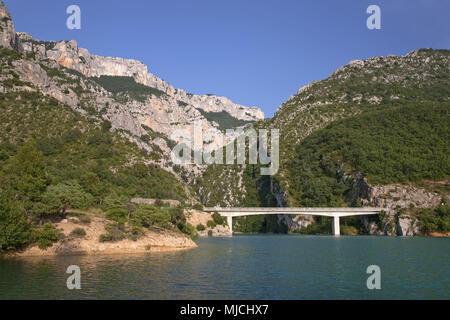 Lac de Sainte Croix, Provence, Aiguines, Provence-Alpes-Cote d'Azur, France, - Stock Photo