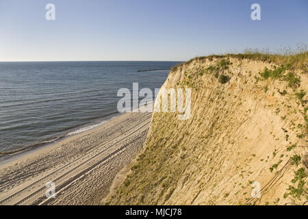 Steep coast Ahrenshoop, peninsula Fischland-Darss-Zingst, Baltic coast, Mecklenburg-West Pomerania, Germany, - Stock Photo