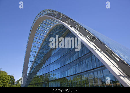 Office building Berlin arch in Hanseatic town Hamburg, North Germany, Germany, Europe, - Stock Photo