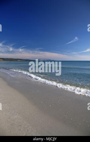 Beach of Porto Ainu, near Budoni, Gallura, East sardinia, Sardinia, Italy, Europe, - Stock Photo
