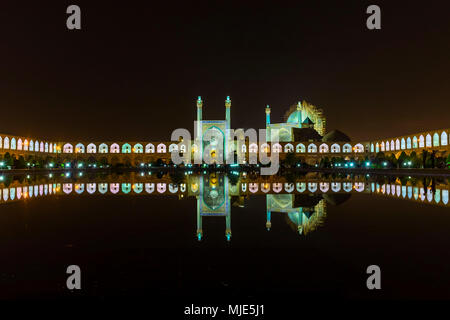 Masdsched-e Em?m / Royal Mosque / Imam Mosque / Shah Mosque and Ali Qapu in Isfahan - Stock Photo