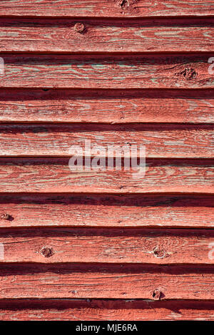 The weathered wooden wall of a fischerite on the beach of Vester Sømarken, Europe, Denmark, Bornholm, - Stock Photo