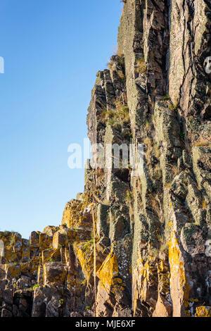 Detail of the rock formation of Jons Kapel / Jon's chapel, Europe, Denmark, Bornholm, - Stock Photo