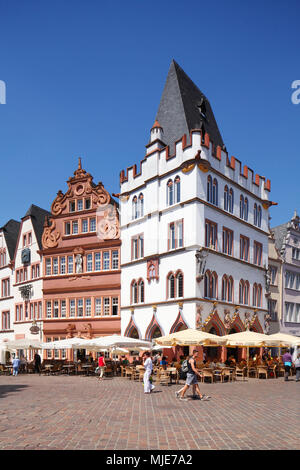 Haus Steipe at Trier main market (Hauptmarkt), Trier, Rhineland-Palatinate, Germany, Europe - Stock Photo