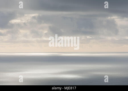 Clouds over the Atlantic Ocean, south of Iceland, photographed from a Cessna in February, - Stock Photo