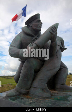 Utah Beach Memorial of the invasion in World War II - Stock Photo