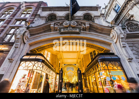 England, London, Burlington Arcade - Stock Photo