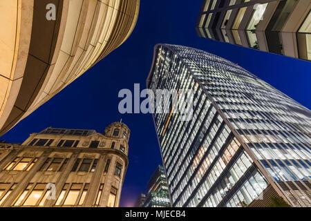 England, London, City of London, 20 Fenchurch Street aka The Walkie-talkie Building - Stock Photo