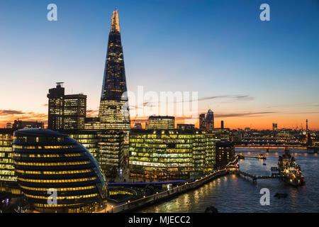 England, London, Southwark, London Bridge City, View from Tower Bridge - Stock Photo