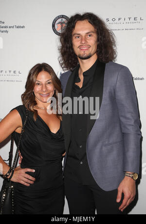 Los Angeles, Ca, USA. 4th May, 2018. Lauren Plutsky, Taurus Skripkauskas, at the Syrian American Medical Society benefit event hosted by Amber Heard at The Sofitel Hotel in Los Angeles, California on May 4, 2018. Credit: Faye Sadou/Media Punch/Alamy Live News - Stock Photo
