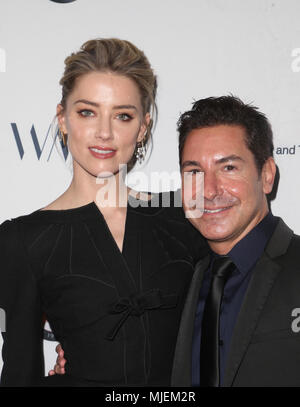 Los Angeles, Ca, USA. 4th May, 2018. Amber Heard, Todd Krim, at the Syrian American Medical Society benefit event hosted by Amber Heard at The Sofitel Hotel in Los Angeles, California on May 4, 2018. Credit: Faye Sadou/Media Punch/Alamy Live News - Stock Photo