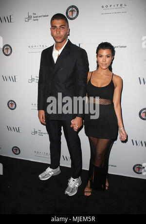 Los Angeles, Ca, USA. 4th May, 2018. Younes Bendjima, Kourtney Kardashian, at the Syrian American Medical Society benefit event hosted by Amber Heard at The Sofitel Hotel in Los Angeles, California on May 4, 2018. Credit: Faye Sadou/Media Punch/Alamy Live News - Stock Photo