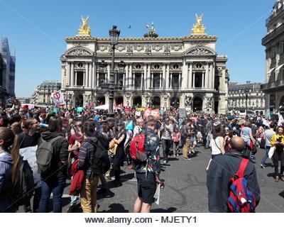 Paris france th may la fête à macron the party for
