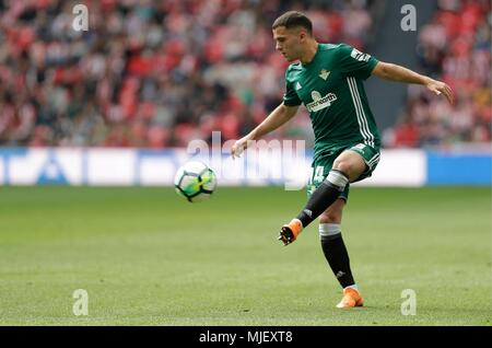 *Riza Durmisi* of Real Betis Balompie during the Athletic de Bilbao vs Real Betis, La Liga at ...
