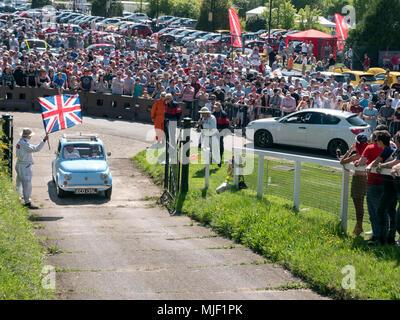 Italian car day at Brooklands Museum in Weybridge Surrey 05/05/2018 - Stock Photo