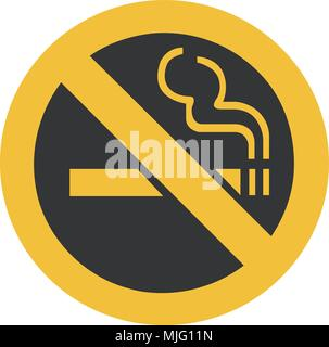 No Smoking Sign - Illustration - Stock Photo