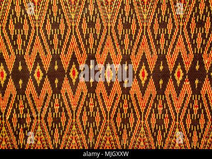 pattern of thai  fabric - Stock Photo
