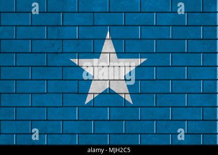 Somalia flag painted on a brick wall - Stock Photo