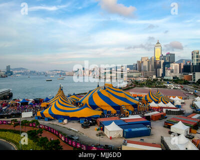 Funfair and Carnival in central Hong Kong, China. - Stock Photo