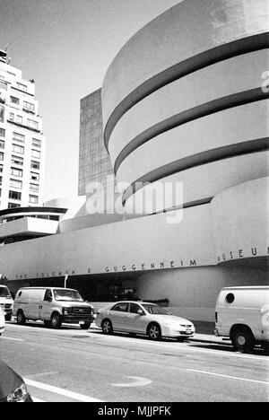 Solomon R Guggenheim Museum, Fifth Avenue, New York City, Manhattan , United States of America, U.S.A - Stock Photo
