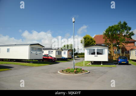 permanent caravan sites for Gypsy and Traveller communities - Stock Photo